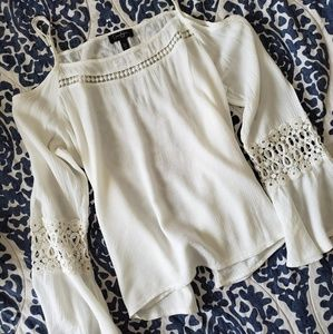 White Off Shoulder Boho flowy Top